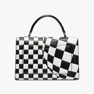 OFF WHITE Jitney 1.4 checked tote bag
